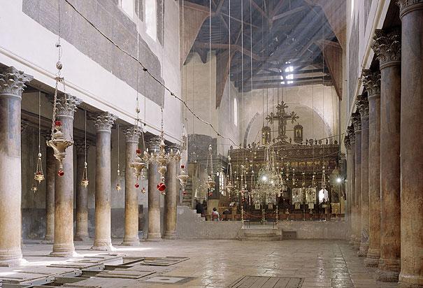 church interior nativity